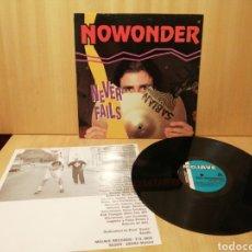 Discos de vinilo: NOWONDER. NEVER FAILS.. Lote 215656526