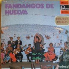Disques de vinyle: LP - FANDANGOS DE HUELVA - VARIOS (VER FOTO ADJUNTA, SPAIN, FONTANA 1973). Lote 215657336