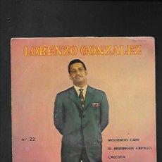 Discos de vinilo: LORENZO GONZALEZ MOLIENDO CAFE, ODEON 7 EPL 13.663. Lote 215662333