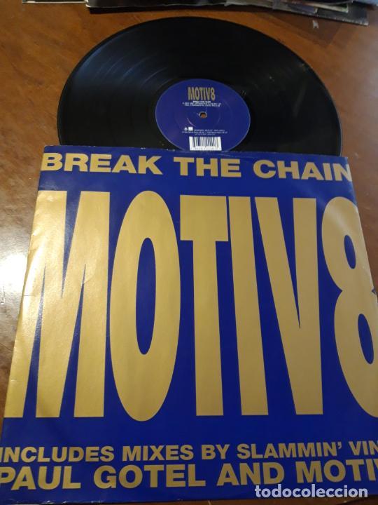 MOTIV 8 – BREAK THE CHAIN- WEA – WEA 010 T,-LP-UK-1995- (Música - Discos - LP Vinilo - Techno, Trance y House)