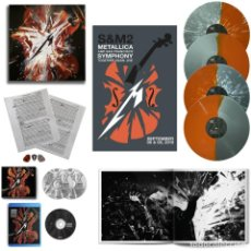 Discos de vinilo: METALLICA - S & M 2 - 4 LP + 2CDS + 1 BLU-RAY, ED.LIMITADA DELUXE, POSTER, 5 PUAS.... Lote 215669452