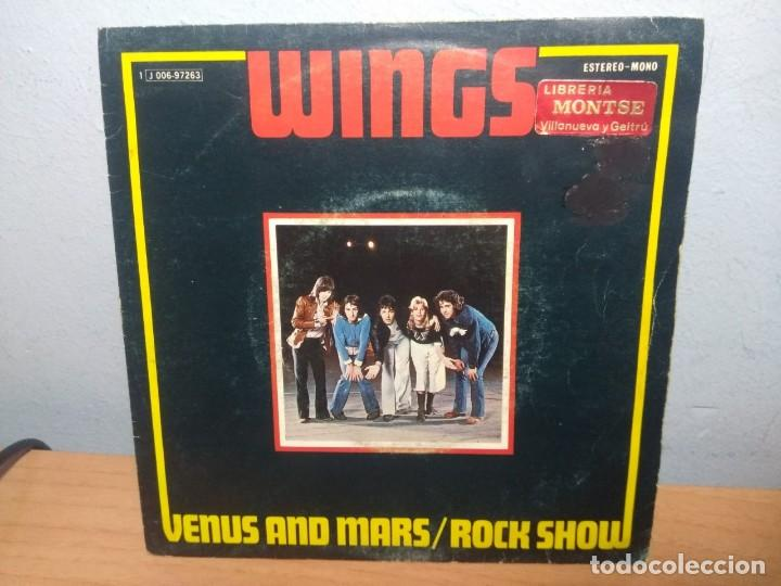 Discos de vinilo: SG WINGS : VENUS AND MARS / ROCK SHOW + MAGNETO AND TITANIUM MAN - Foto 1 - 215673221