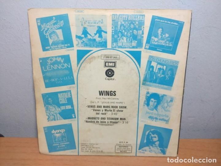 Discos de vinilo: SG WINGS : VENUS AND MARS / ROCK SHOW + MAGNETO AND TITANIUM MAN - Foto 2 - 215673221
