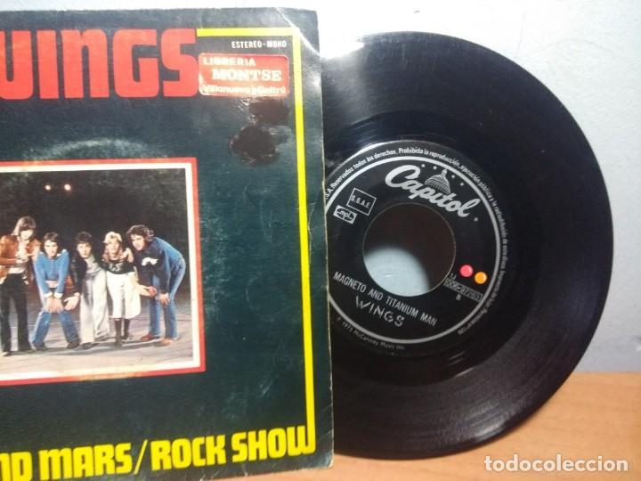 Discos de vinilo: SG WINGS : VENUS AND MARS / ROCK SHOW + MAGNETO AND TITANIUM MAN - Foto 3 - 215673221