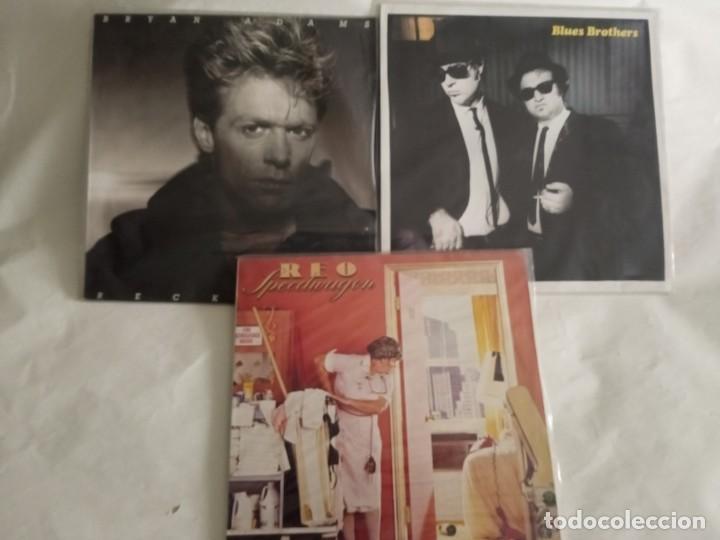 LP TRES VINILOS BRYAN ADAMS . BLUES BROTHERS (Música - Discos - LP Vinilo - Pop - Rock - New Wave Internacional de los 80)