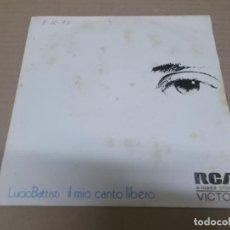 Disques de vinyle: LUCIO BATTISTI (SINGLE) IL MIO CANTO LIBERO AÑO 1973. Lote 215680171