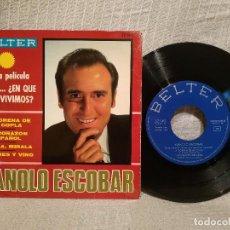 Discos de vinilo: MANOLO ESCOBAR - PERO...¿EN QUE PAIS VIVIMOS? - LA MORENA DE MI COPLA +3 - EP BELTER 1967 COMO NUEVO. Lote 215682830