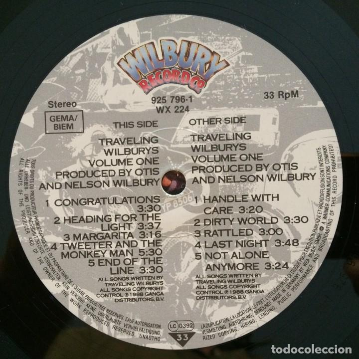 Discos de vinilo: Traveling Wilburys – Volume One Europe 1988 WILBURY RECORDS - Foto 6 - 215706491