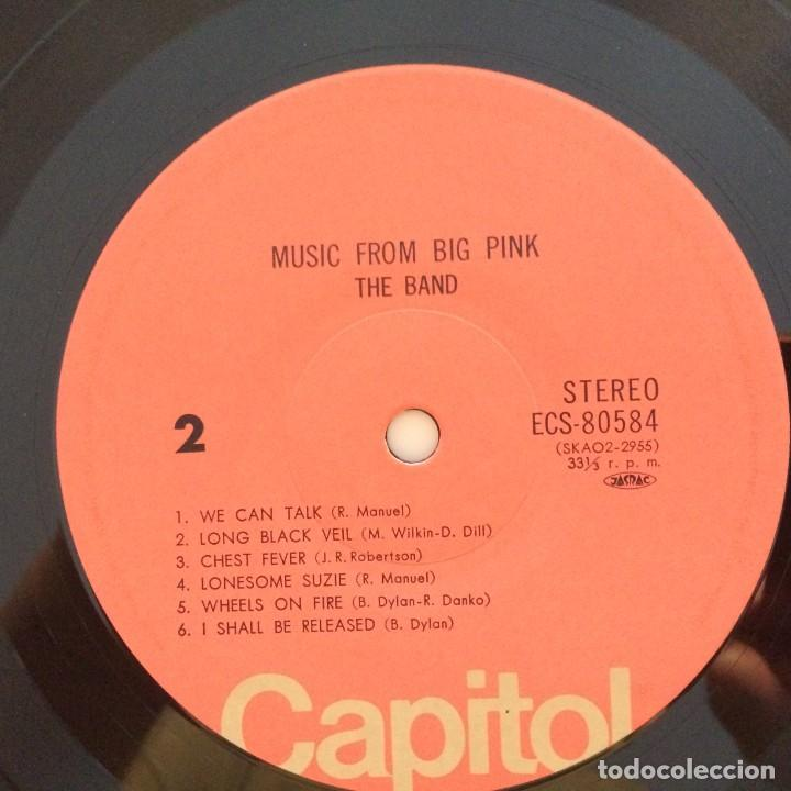 Discos de vinilo: The Band – Music From Big Pink Japan CAPITOL RECORDS - Foto 6 - 215710436
