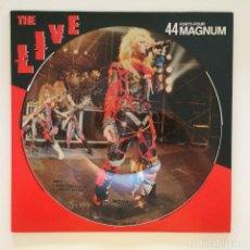 Discos de vinilo: 44MAGNUM – THE LIVE PICTURE VINYL JAPAN 1984 MOON RECORDS. Lote 215711197