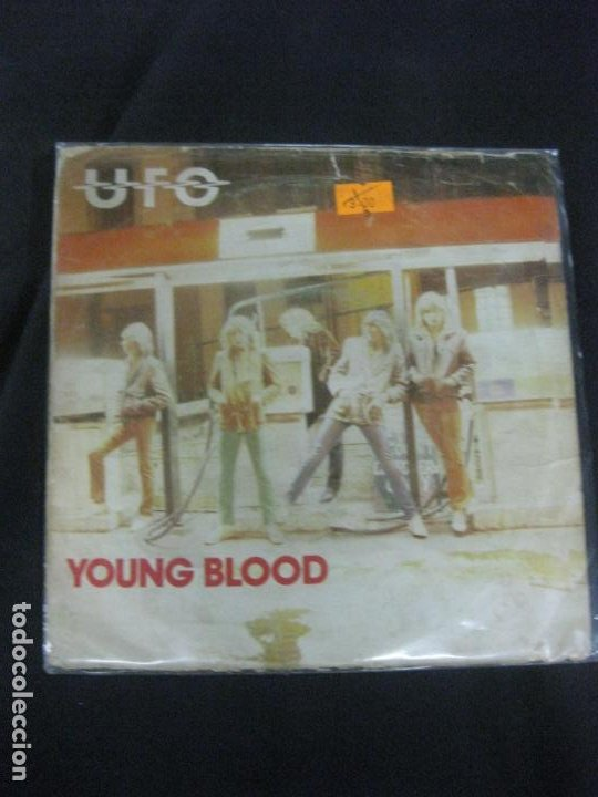 UFO. YOUNG BLOOD. SINGLE CHRISALIS 1980. HEAVY. (Música - Discos - Singles Vinilo - Heavy - Metal)
