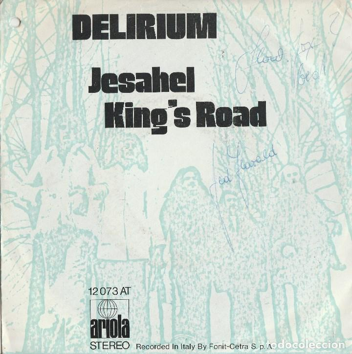 45 GIRI DELIRIUL JESAHEL /KING'S ROAD ARIOLA DISCHI GERMANY SANREMO 72 (Música - Discos de Vinilo - Maxi Singles - Otros Festivales de la Canción)