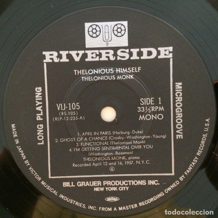 Discos de vinilo: Thelonious Monk – Thelonious Himself Japan 1984 RIVERSIDE RECORDS - Foto 4 - 215723863