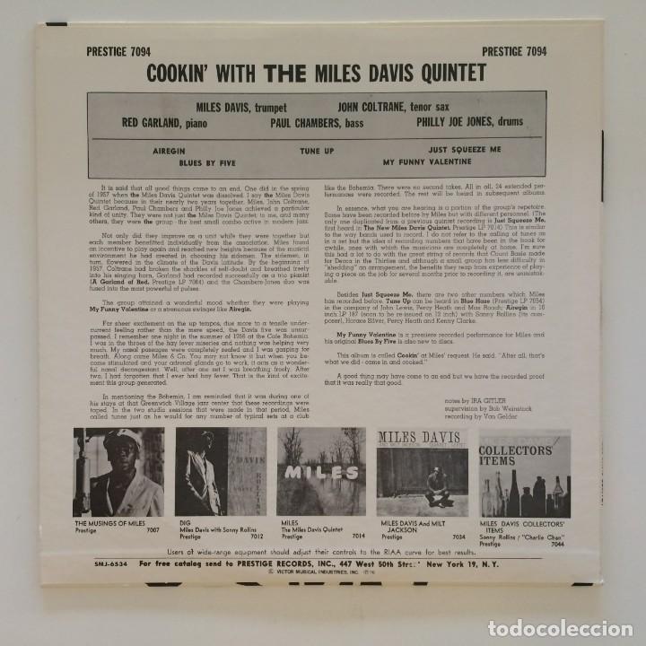 Discos de vinilo: The Miles Davis Quintet – Cookin With The Miles Davis Quintet Japan 1976 PRESTIGE - Foto 2 - 215724888