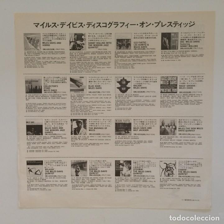 Discos de vinilo: The Miles Davis Quintet – Cookin With The Miles Davis Quintet Japan 1976 PRESTIGE - Foto 4 - 215724888
