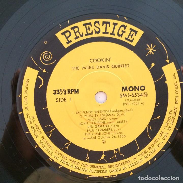 Discos de vinilo: The Miles Davis Quintet – Cookin With The Miles Davis Quintet Japan 1976 PRESTIGE - Foto 5 - 215724888