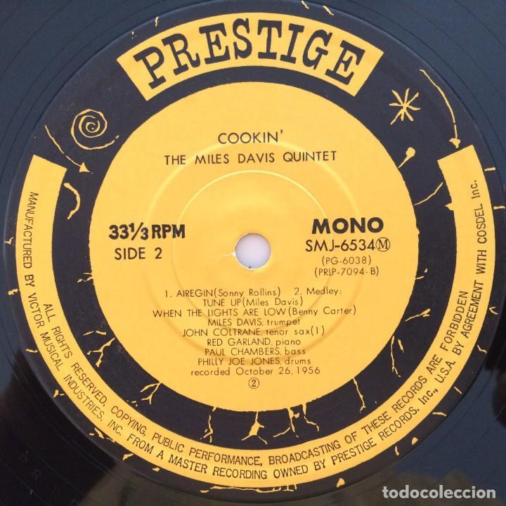 Discos de vinilo: The Miles Davis Quintet – Cookin With The Miles Davis Quintet Japan 1976 PRESTIGE - Foto 6 - 215724888