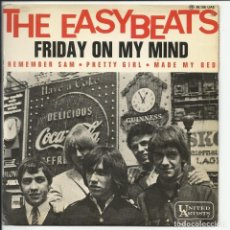 Discos de vinil: THE EASYBEATS ‎– FRIDAY ON MY MIND EP UNITED ARTISTS RECORDS ‎– 36.106 UAE 1966 FRANCIA. Lote 215728410