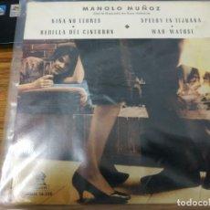 Discos de vinilo: MANOLO MUÑOZ - ROCK AND ROLL EN ESPAÑOL - EP SPAIN 1963 - BIG GIRLS DON'T CRY - FOUR SEASONS COVER. Lote 215771245