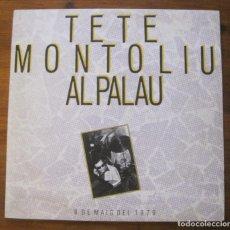 Discos de vinilo: TETE MONTOLIU AL PALAU 2XLP. Lote 215798055