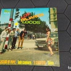 Discos de vinilo: LOS PAJAROS LOCOS - TRAJECITOS DE PAPEL - E.P. - ESPAÑA 1967.. Lote 215822290