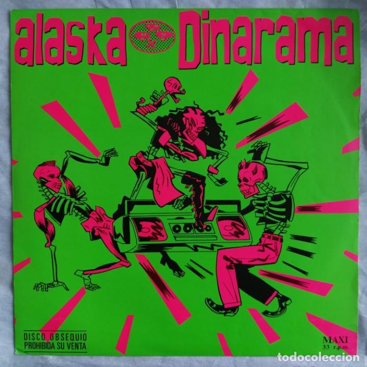 """ALASKA Y DINARAMA - QUIERO SER SANTA (12"""", PROMO) (HISPAVOX) 052 40 2207 6 (D:VG+) (Música - Discos de Vinilo - Maxi Singles - Grupos Españoles de los 70 y 80)"""