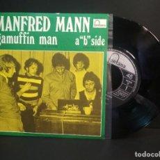 Discos de vinilo: MANFREDD MANN RAGAMUFFIN MAN SINGLE SPAIN 1960 PEPETO TOP. Lote 215844445