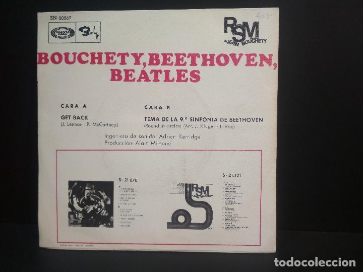 Discos de vinilo: JEAN BOUCHETY GET BACK SINGLE SPAIN 1969 PEPETO TOP - Foto 2 - 215844750