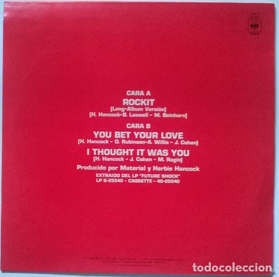 Discos de vinilo: Herbie Hancock. Rockit, CBS, Spain 1983 Maxi-LP 12 45 RPM - Foto 2 - 215872756