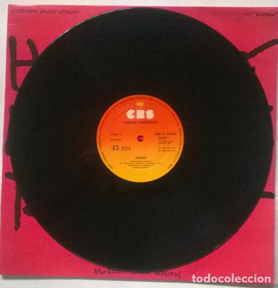 Discos de vinilo: Herbie Hancock. Rockit, CBS, Spain 1983 Maxi-LP 12 45 RPM - Foto 3 - 215872756