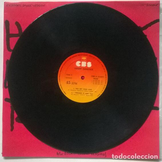 Discos de vinilo: Herbie Hancock. Rockit, CBS, Spain 1983 Maxi-LP 12 45 RPM - Foto 4 - 215872756