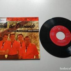 Disques de vinyle: 0820- HONEY LOS DIAMONDS ESPAÑA 1960 SINGLE VIN 7 POR G+ DIS VG+. Lote 215878986