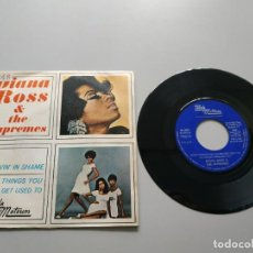 Disques de vinyle: 0820-DIANA ROSS & THE SUPREMES IM LIVIN IN SHAME ES 1969 SINGLE VIN 7 POR VG DIS NM. Lote 215931587