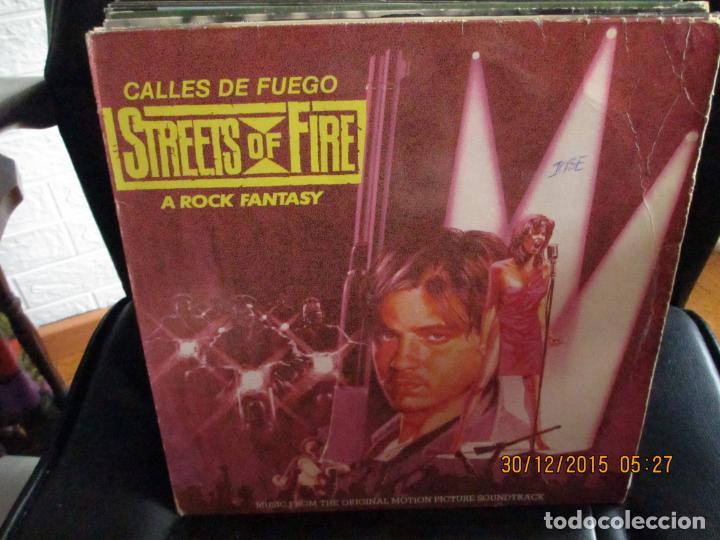 VARIOUS ?– CALLES DE FUEGO (STREETS OF FIRE - A ROCK FANTASY) MUSIC FROM THE ORIGINAL MOTION PICTURE (Música - Discos - LP Vinilo - Bandas Sonoras y Música de Actores )