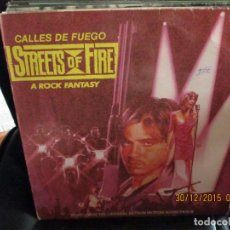 Disques de vinyle: VARIOUS ?– CALLES DE FUEGO (STREETS OF FIRE - A ROCK FANTASY) MUSIC FROM THE ORIGINAL MOTION PICTURE. Lote 215933855