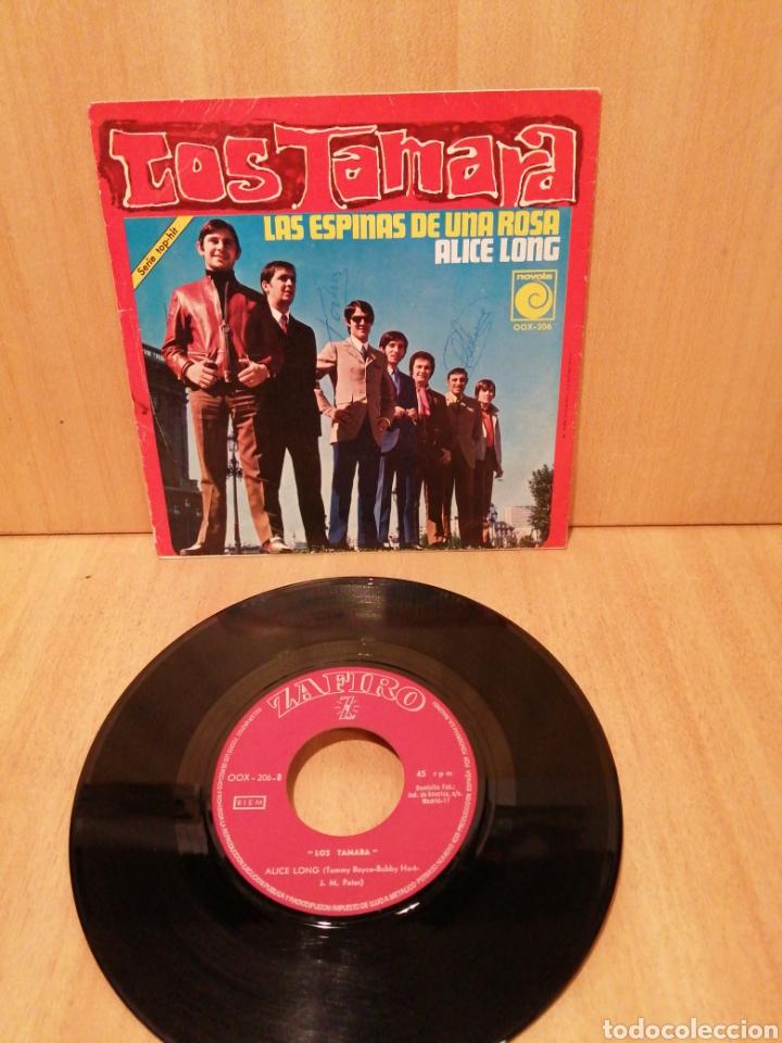 Discos de vinilo: Los Tamara. Las Espinas de una rosa. Alice Long (Tommy Boyce & Bobby Hurt ) - Foto 2 - 215943637