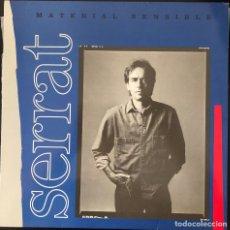 Discos de vinilo: JOAN MANEL SERRAT, LP MATERIAL SENSIBLE, ÉXITOS. Lote 215997076