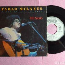 """Discos de vinilo: 7"""" PABLO MILANES – ... A LOS POETAS CUBANOS - MOVIEPLAY 02.3615/2 - SPAIN PRESS PROMO (VG+/VG+). Lote 216003180"""