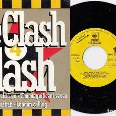 Discos de vinilo: THE CLASH - THE CLASH FLASH - SINGLE DE VINILO EDICION ESPAÑOLA PROMOCIONAL #. Lote 216003758