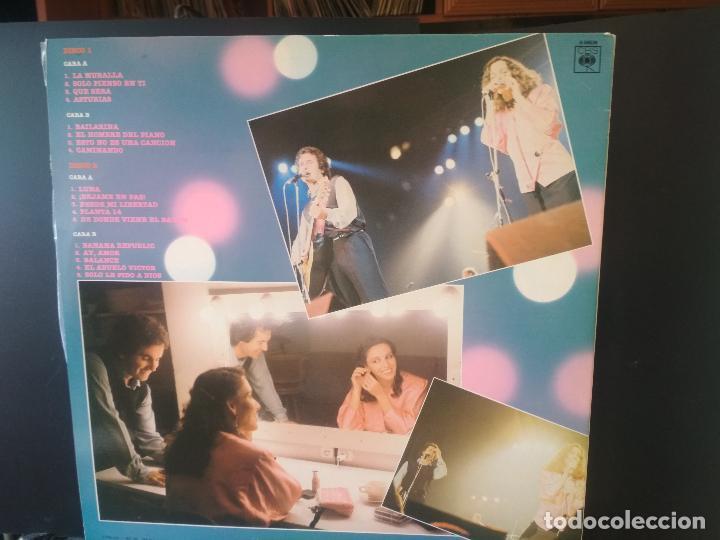 Discos de vinilo: VICTOR MANUEL Y ANA BELEN VICTOR Y ANA EN VIVO LP SPAIN 1983 PDELUXE - Foto 3 - 216010290