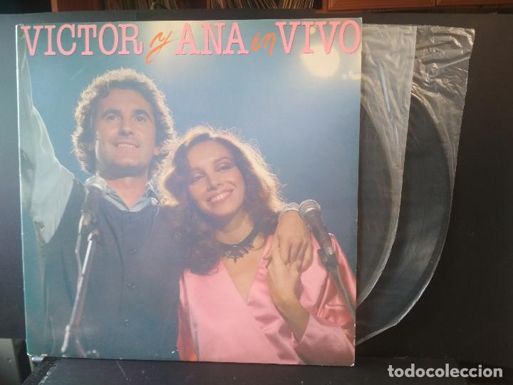 VICTOR MANUEL Y ANA BELEN VICTOR Y ANA EN VIVO LP SPAIN 1983 PDELUXE (Música - Discos - LP Vinilo - Solistas Españoles de los 70 a la actualidad)