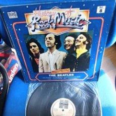 Discos de vinilo: BEATLES LP ORIGINAL ROCK MUSIC LABEL DRUMS ESPAÑA 1982 ACTUACIONES EN DIRECTO. Lote 216012206