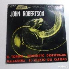 Discos de vinilo: JOHN ROBERTSON / EL SILBATO DEL CARTERO + 3 (EP 1965). Lote 216012925