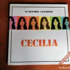 Discos de vinilo: LP CECILIA 20 GRANDES CANCIONES, DOBLE LP CBS 1990. Lote 216020755