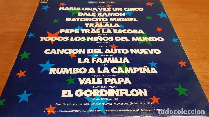 Discos de vinilo: GABY, FOFO Y MILIKI CON FOFITO / LP-GATEFOLD - MOVIE PLAY-1974 / MBC. ***/*** - Foto 3 - 216203068