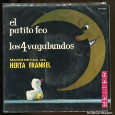 Discos de vinil: MARIONETAS DE HERTA FRANKEL CON CUENTO. BELTER. EL PATITO FEO. LOS 4 VAGABUNDOS. 1963. Lote 216353962