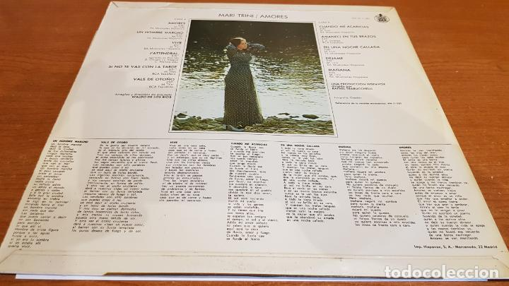 Discos de vinilo: MARI TRINI / AMORES / LP - HISPAVOX-1970 / MBC. ***/*** - Foto 2 - 216355918