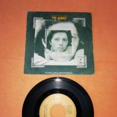 Discos de vinilo: UMBERTO TOZZI. CANTA EN ESPAÑOL. TE AMO. EPIC 1977. Lote 216358000