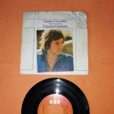 Discos de vinilo: SANDRO GIACOBBE. CANTA EN ESPAÑOL. EL JARDIN PROHIBIDO. CBS 1975.. Lote 216365168