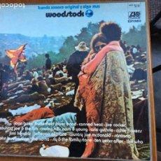 Discos de vinilo: WOODSTOCK BANDA SONORA ORIGINAL Y ALGO MÁS COMPLETO 3 LPS Y FOLLETO. Lote 216368255